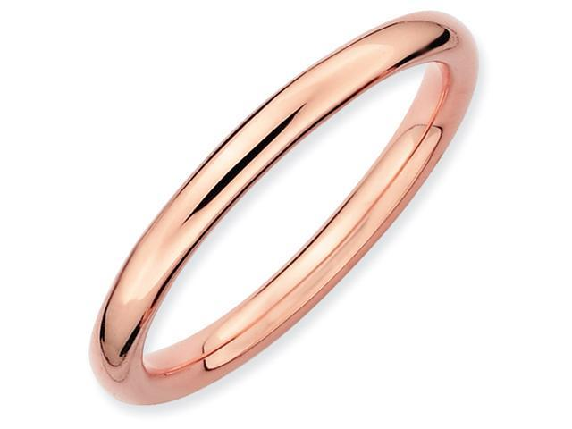 Sterling Silver Stackable Expressions Pink-plated Polished Ring
