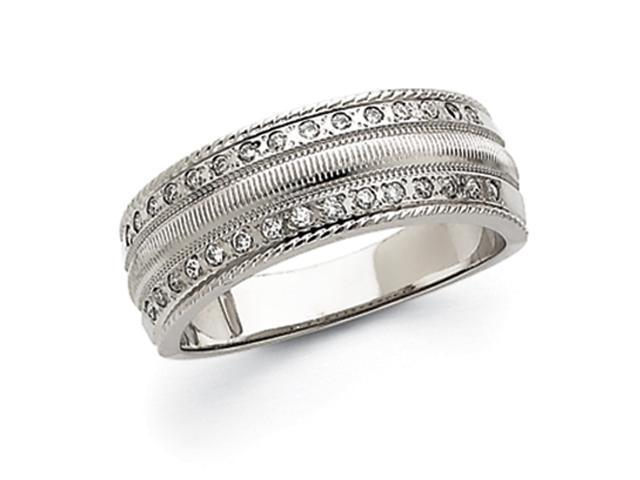 14k White Gold Men's Diamond Band Mounting
