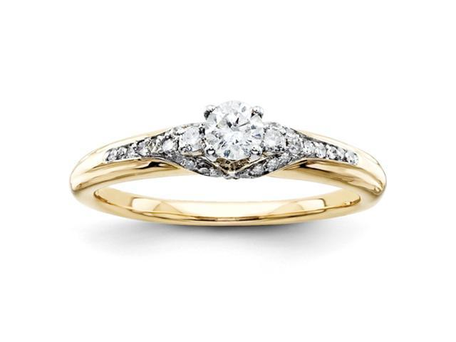 14k Diamond Engagement Ring Diamond quality A (I2 clarity, I-J color)