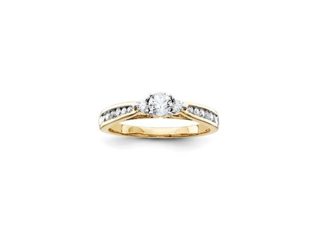 14k Diamond Engagement Ring Diamond quality A (I2 clarity, I-J color)