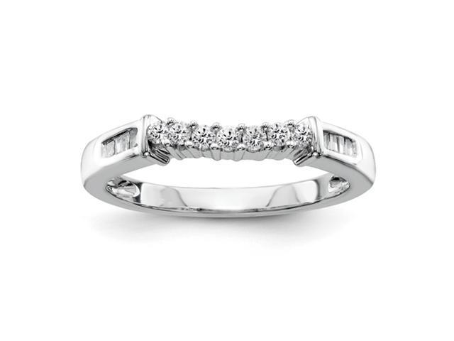 14k White Gold Diamond Band Diamond quality AA (I1 clarity, G-I color)