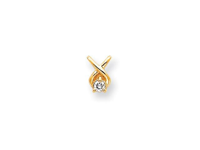14k Holds 2.9mm Stone, Chain Slide Mounting
