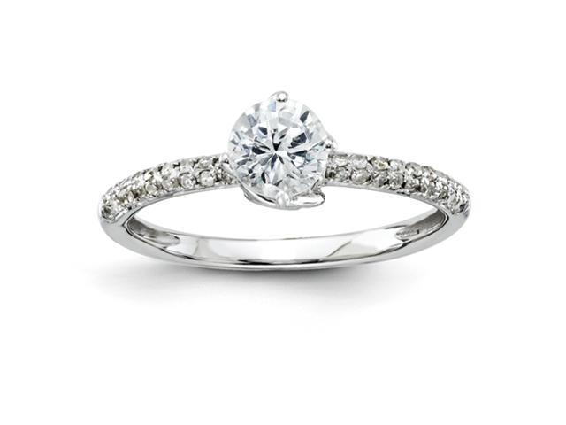 14k White Gold Diamond Semi-mount Ring Diamond quality AA (I1 clarity, G-I color)