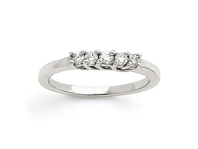 14k White Gold Anniversary Band Mounting