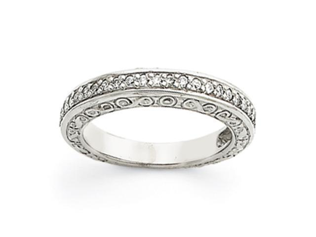 14k White Gold Diamond Anniversary Band Mounting
