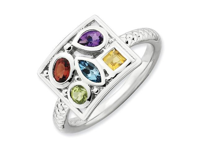 Sterling Silver Stackable Expressions Gemstone Ring