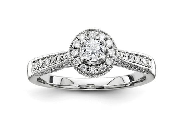 14k White Gold Semi Mount Diamond Engagement Ring Diamond quality AA (I1 clarity, G-I color)