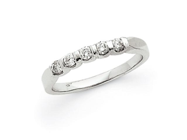 14k White Gold .25ct. Diamond Anniversary Band Mounting