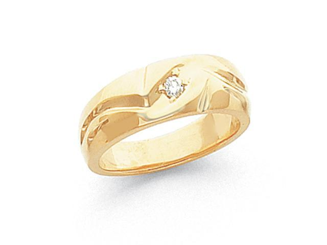 14k Grooved Mens Diamond Band Mounting