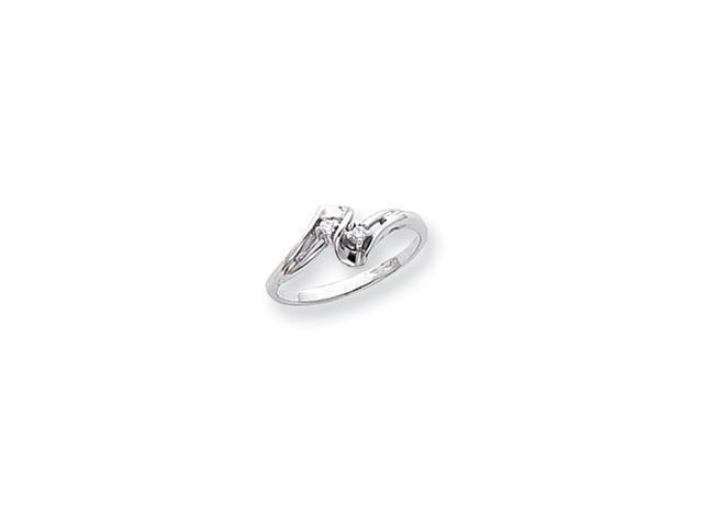 14k White Gold .05ct. Diamond Ring Mounting