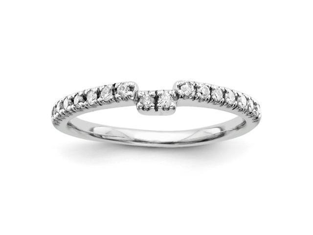 14k White Gold AA Diamond wedding band Diamond quality AA (I1 clarity, G-I color)