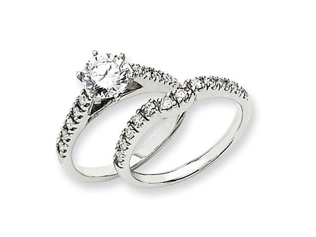 14k White Gold Peg Set Engagement Ring Mounting