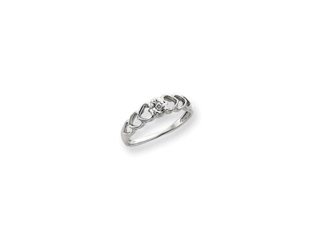 14k White Gold .02ct. Diamond Heart Ring Mounting