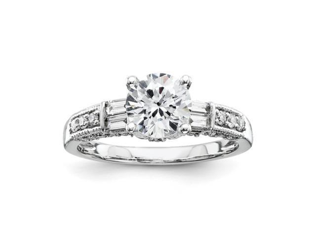 14k White Gold Diamond  Bridal Engagement Semi Mount Ring Diamond quality AA (I1 clarity, G-I color)