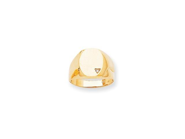14k Polished Oval Face Hollow Back 14.8x11.3 Signet Ring Mounting
