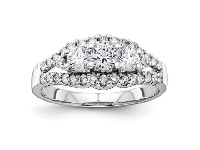 14k White Gold Semi Mount Diamond Ring Diamond quality AA (I1 clarity, G-I color)