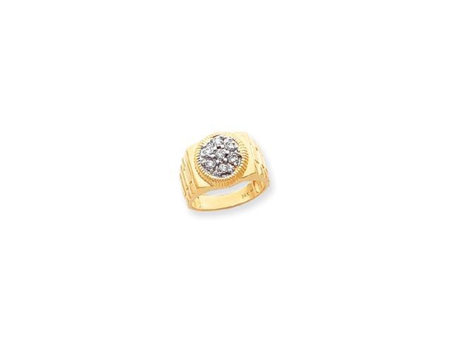 14k AA Diamond men's ring Diamond quality AA (I1 clarity, G-I color)