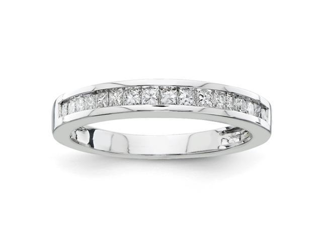 14k White Gold A Quality Complete Diamond Wedding Band Diamond quality A (I2 clarity, I-J color)