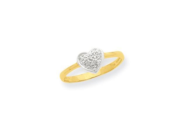 14k & Rhodium Marquise Diamond Heart Ring Diamond quality A (I2 clarity, I-J color)
