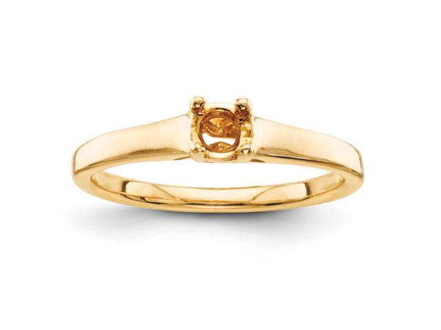 14k 4.2mm Solitaire Ring Mounting