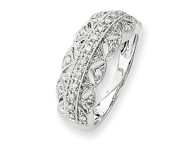 14k White Gold Fancy Diamond Ring Diamond quality A (I2 clarity, I-J color)