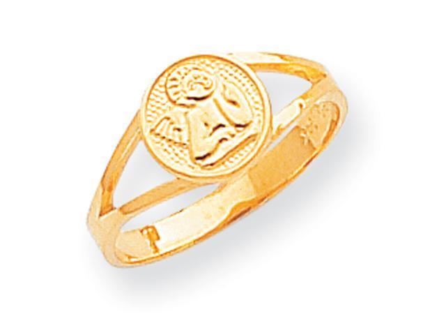 14k Polished Angel Ring