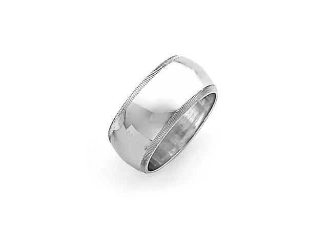 Sterling Silver 9mm Milgrain Band