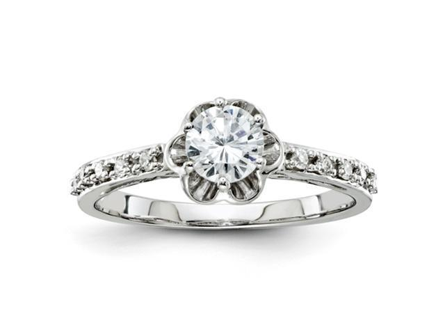 14k White Gold Diamond Semi Mount Ring Diamond quality AA (I1 clarity, G-I color)