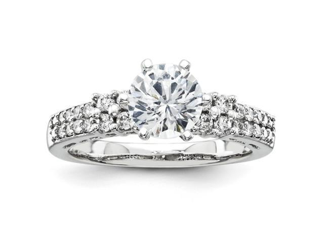14k White Gold Diamond Semi Mount Ring Diamond quality AA (I1 clarity, G-I color)