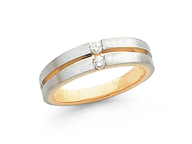 14k Two-Tone Mens Diamond Band Mounting