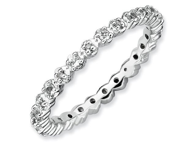 Sterling Silver Stackable Expressions White Topaz & Diamond Ring