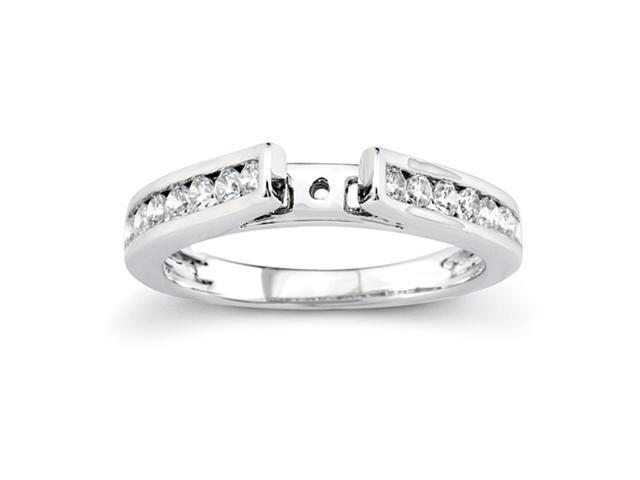 14K White Gold Diamond Engagement Semi-Mounting