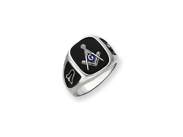 14k white masonic ring mtg