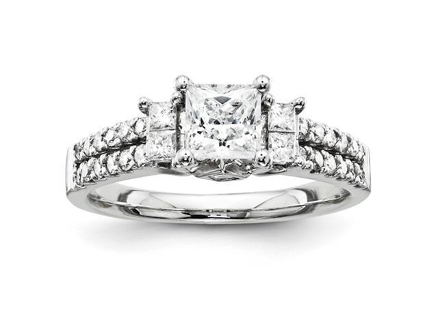 14k White Gold Semi Mount Diamond Engagement Ring Diamond quality AA (I1 clarity, G-I color)
