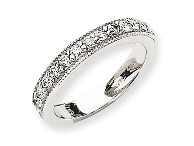 14k White Gold Diamond Band Mounting