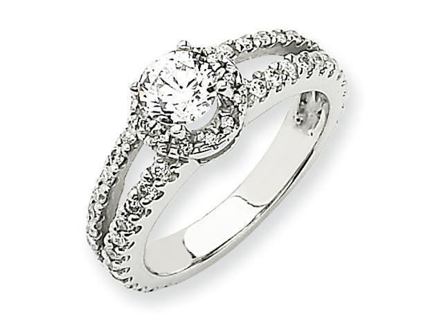 14k White Gold Engagement Ring Mounting