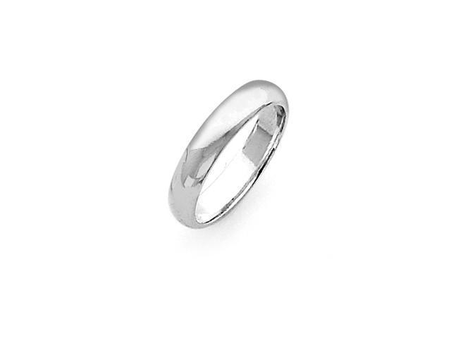 Sterling Silver 4mm Half-Round Band