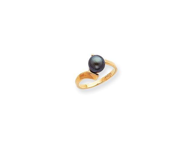 14k Polished Pearl Ring Mounting