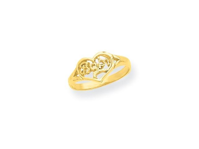14K Baby Cut-out Heart Ring