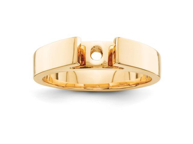 14K Peg Set Solitaire Ring