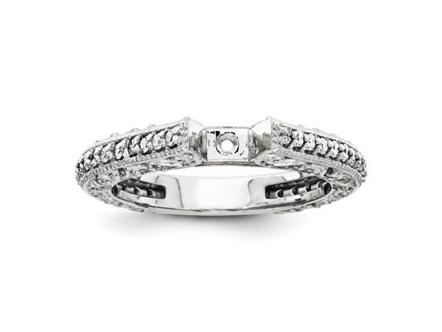 14k White Gold Diamond Engagement Ring Mounting
