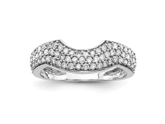 14k White Gold Diamond Wedding Band Diamond quality AA (I1 clarity, G-I color)