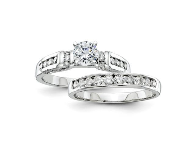 14k White Gold Diamond Semi-mount Engagement Ring Diamond quality AA (I1 clarity, G-I color)