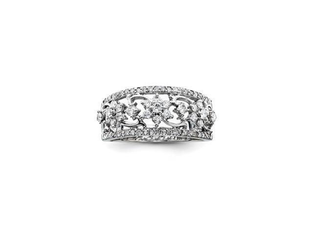 14k White Gold Diamond Ring Diamond quality AA (I1 clarity, G-I color)