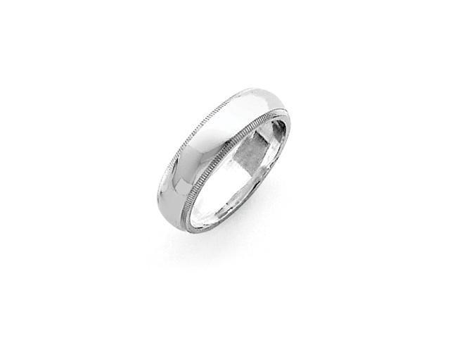 Sterling Silver 5mm Milgrain Band