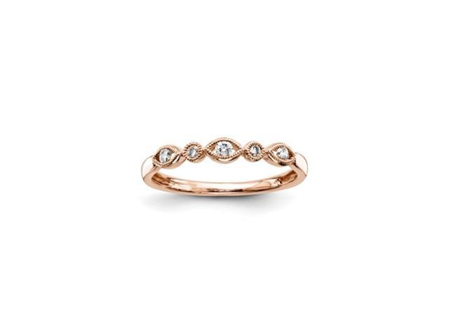 14K Pink Gold Diamond Fashion Ring Diamond quality AA (I1 clarity, G-I color)