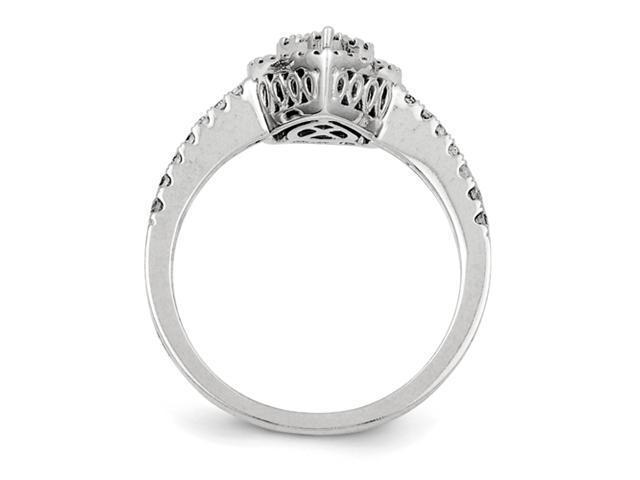 14K White Gold Diamond Fashion Ring Diamond quality AA (I1 clarity, G-I color)