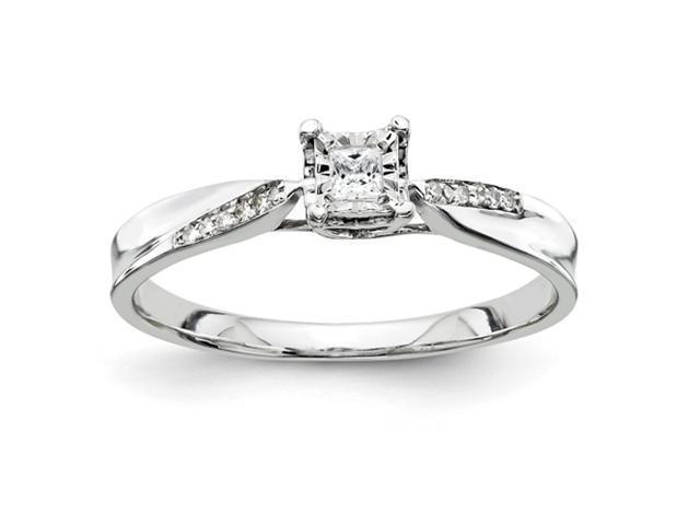 14k White Gold Semi Mount Ring Diamond quality AA (I1 clarity, G-I color)