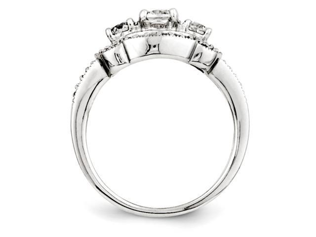 14k White Gold Diamond Semi-mount Engagement Ring Diamond quality AA (I1 clarity, G-I color)