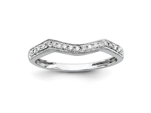 14k White Gold Diamond Wedding Band Diamond quality AA (I1 clarity, G-I color)